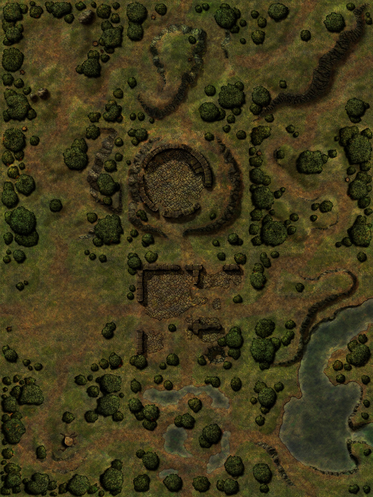 Forest Ruins Battlemap