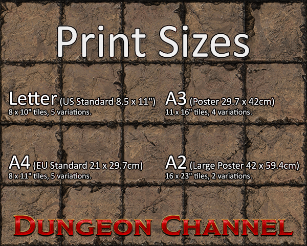 picture regarding Printable Dungeon Tiles known as Dungeon Tiles - Printable Battlemat - Dungeon Channel