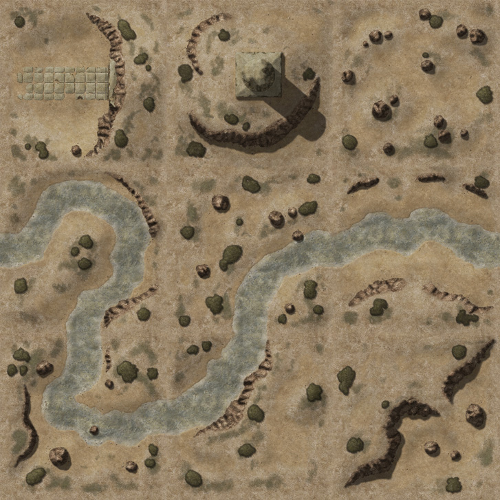 Desert Battlemap Dungeon Channel