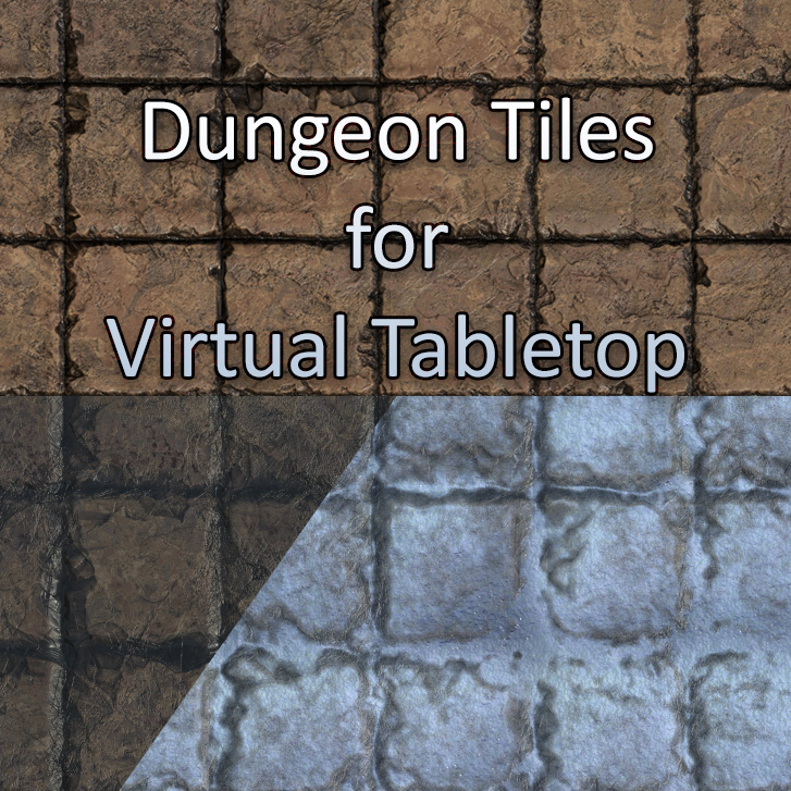 Dungeon Tiles for VTT – 24×24″ – Dungeon Channel